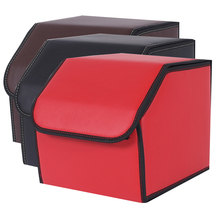 XIAOBAISHU Car storage box trunk organizer case bag car garbage tool PU leather folding large cargo