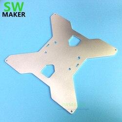 Swmaker tevo tarântula 3d impressora de alumínio y transporte aquecido suporte placa atualização tipo oxidação para he3d/tarântula impressora 3d