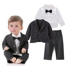 Новое поступление, красивый свадебный костюм для маленьких мальчиков, красивый комплект из 3 предметов для мальчиков, наряд для мальчиков 211