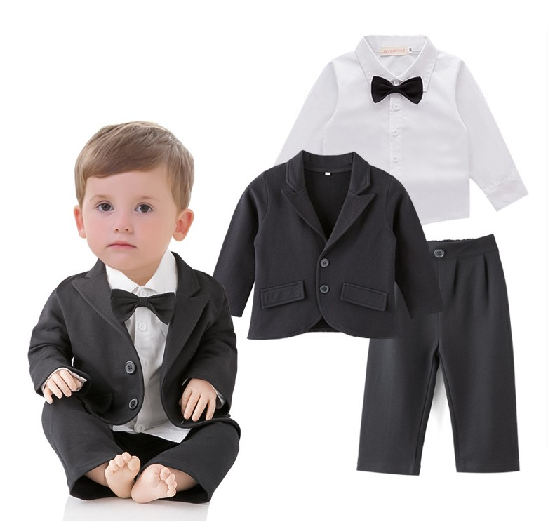 Lovely Baby Boy Wedding Party Suit/Boy's Handsome 3-pieces Suit Set/Boy's Attire 211