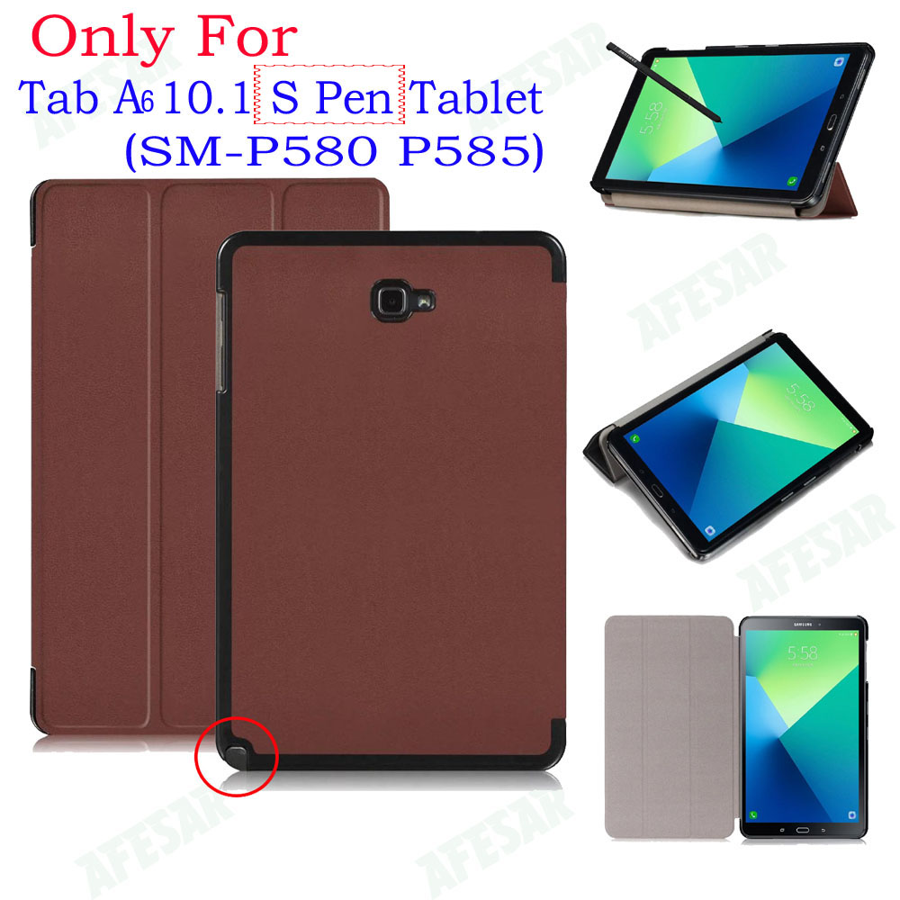 UltraSlim Flip Cover Case For Samsung Galaxy 2016 Tab A A6 10.1 With S Pen tablet SM-P580 P585 Smart Shell Stand cover case free shipping new electric guitar double coil pickup chb 5 can cut single art 46