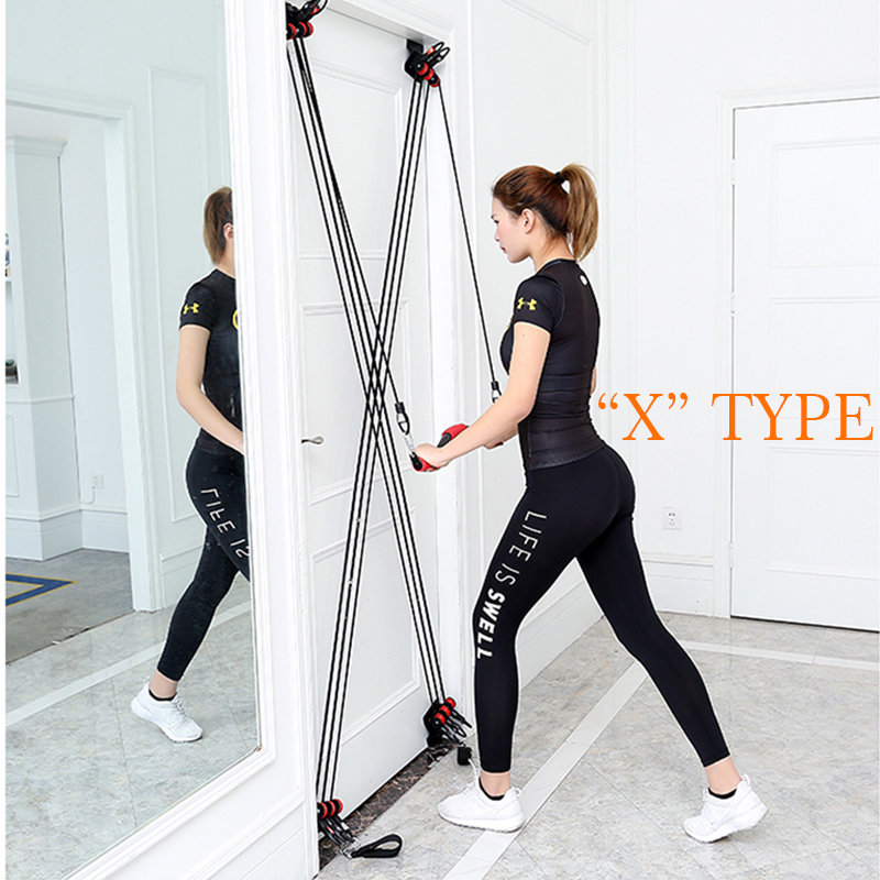 TWTOPSE Pro Pulley Resistance Bands Training Fitness Yoga Pull Rope Universal Door Exercise Tubes Fitness Body