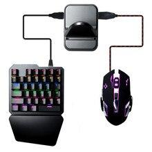 Pubg controlador móvel conversor para ios android pubg teclado móvel mouse conversor joystick gamepad bluetooth usb periférico