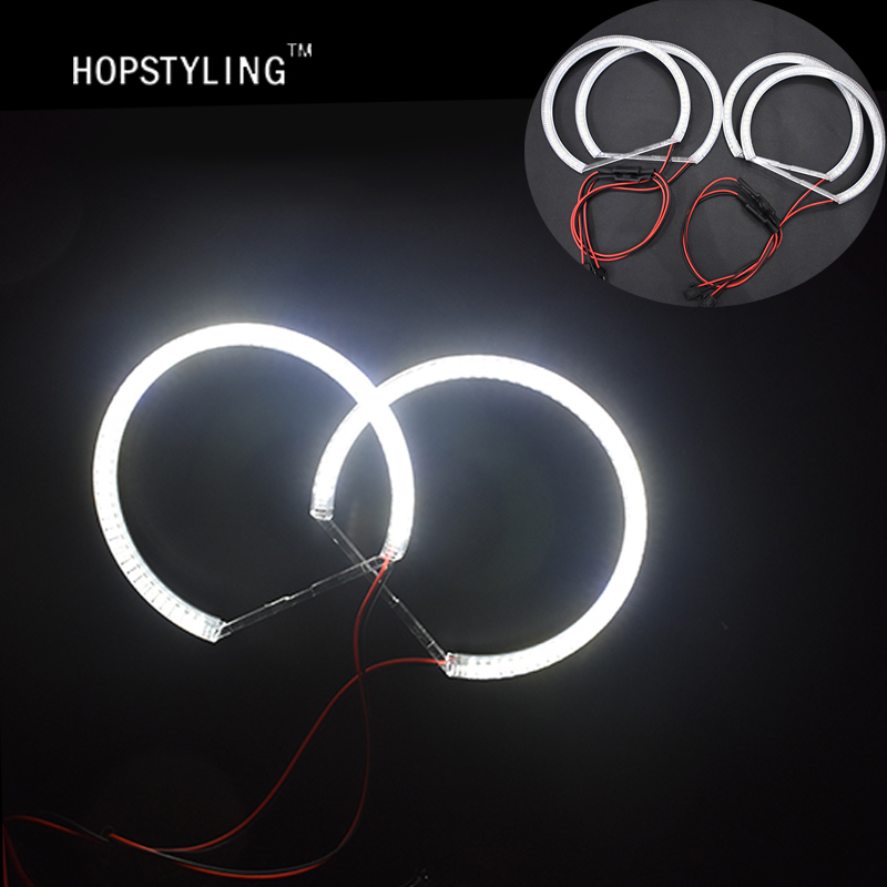 Hopstyling 1 SET Xenon white E46 Non projector SMD LED Angel eyes FOR BMW Auto led bulbs LED headlight Car-styling accessory hot sale car ccfl led angel eye headlights led chip car light white yellow 6000k auto headlight for bmw 3 serie e46 sedan