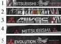Para mitsubishi v3 v5 nsutite coche tatuaje reflectorized subida delantera del sol-shading (1 unids/lote) envío libre, venta al por mayor