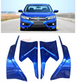 For Honda Civic 10th Gen 4dr Sedan 2016 2017 ABS Painted Car Bumper Corner Edge Guard Decorative Cover Trim 4pcs