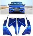 For Honda Civic 10th Gen 4dr Sedan 2016 2017 ABS Painted Car Bumper Corner Edge Guard Decorative Cover Trim 4pcs
