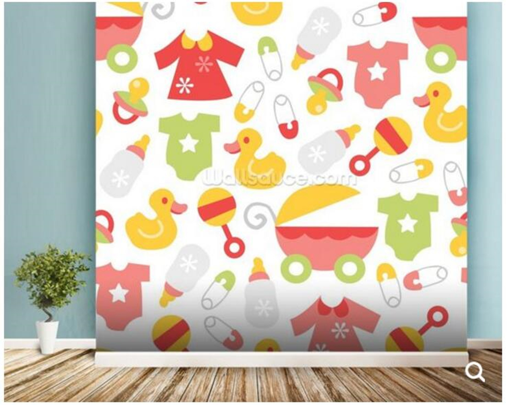 Custom baby wallpaper,Nursery - Baby Girl,cartoon murals for children's room living room sand backdrop wall papel de parede custom baby wallpaper snow white and the seven dwarfs bedroom for the children s room mural backdrop stereoscopic 3d