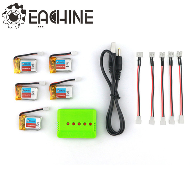 5PCS Eachine E010 3.7V 150mAh Battery RC Quadcopter Spares Parts For RC Model Toys Accessories