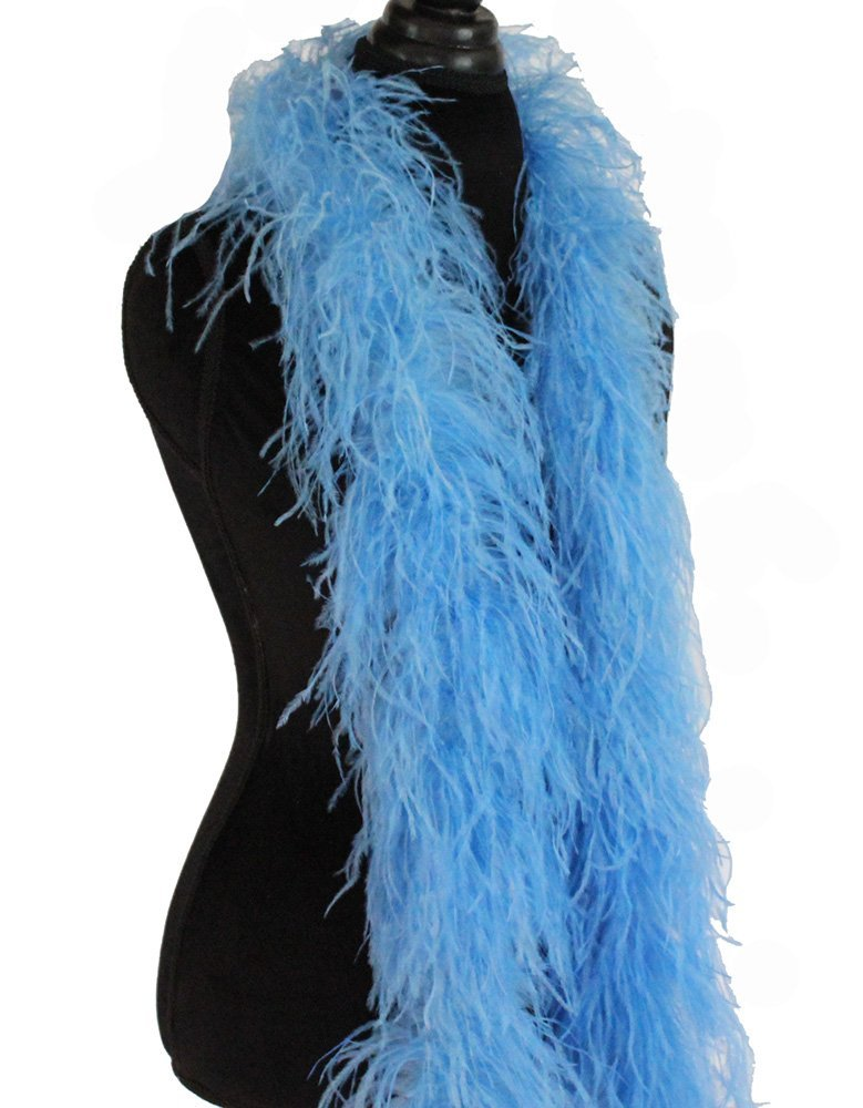 Asia Ra Feather Products Ostrich 5 Ply Boa for Decoration Light Blue 10 meter lot 2