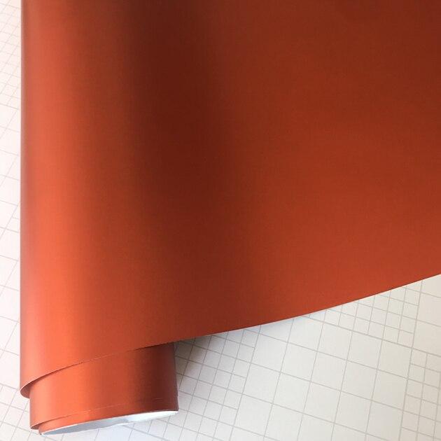 Матовый металлический хромированный виниловая пленка для автомобиля с воздушным пузырьком фиолетовая атласная металлическая наклейка из фольги для автомобиля обертывание ping покрытие - Название цвета: Orange