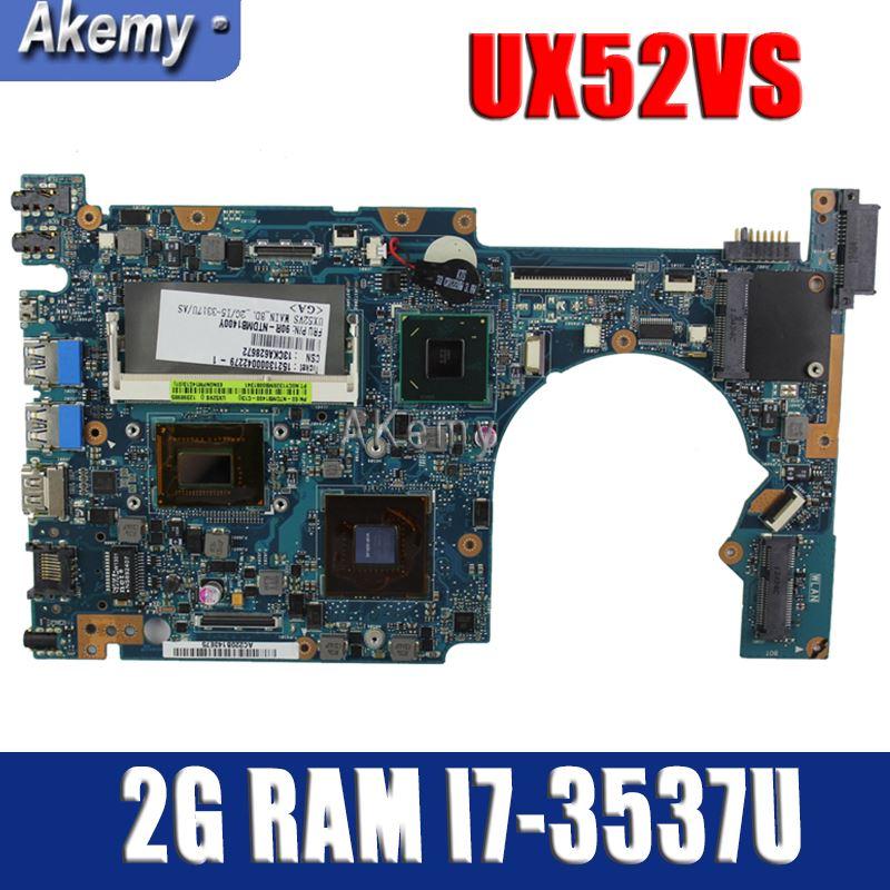 Akemy UX52VS Laptop Motherboard For Asus ZenBook UX52VS UX52V Mainboard 2G RAM I7-3537U