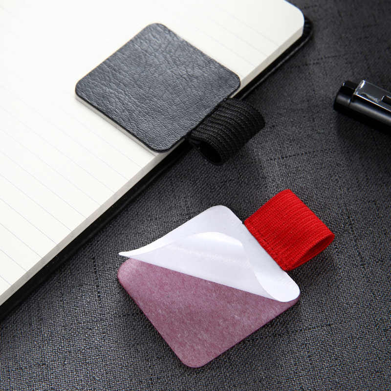 (2 יחידות למכור) דבק עצמי מחברת יומן מתכנן קליפ עט מחזיק עט Tablet PC אבזר 6 צבעים זמינים