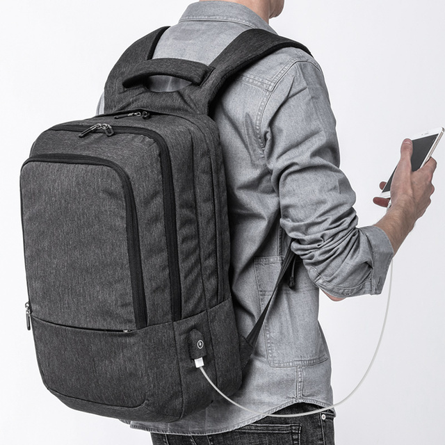 KAKA mochila hombre Casual Men school Backpack Waterproof USB Charging Travel Backpack Large Capacity 17.3 5