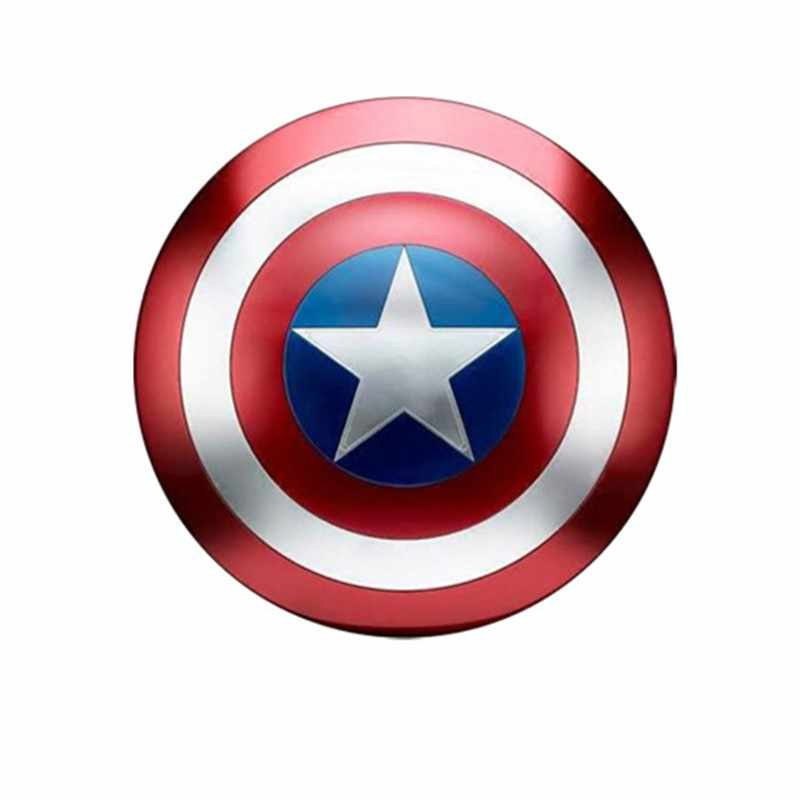 18Inches Captain America Shield 1:1 Metal Industry Wind Wall Metal Handheld Props Bar Shop Wall Decoration Model Toy D126