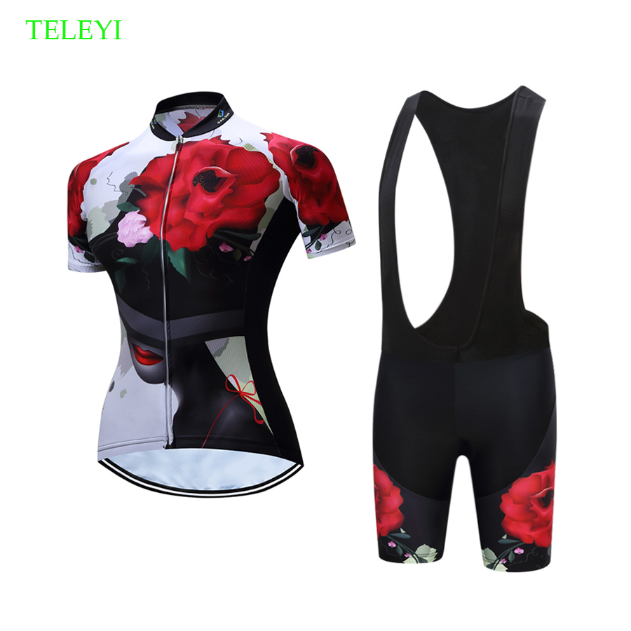b2b4029e0 Summer 2019 Short Sleeve Women Cycling Uniform Suits Female Bike Clothing  Kit MTB Clothes Bicycle Jersey
