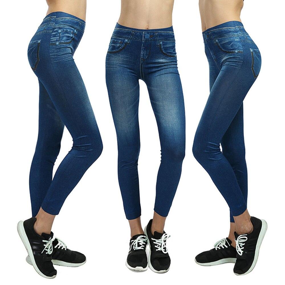Hot Blast Pockets Short Velvet Body Slim Hips Imitation Denim Leggings Seamless Leggings