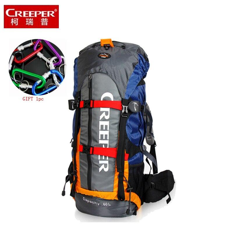 Najniższa cena nowy 60 L plecak plecaki mężczyźni i kobiety torby podróżne miękka żywica siatki alpinizm wodoodporny duża w Plecaki od Bagaże i torby na  Grupa 1