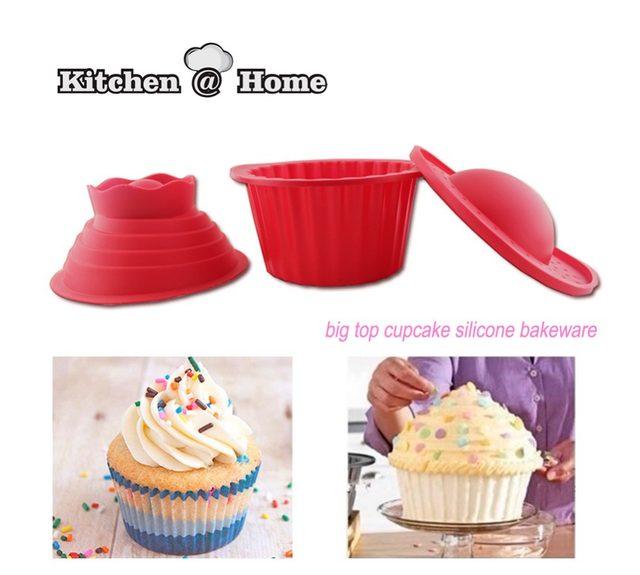 Online Shop Silicone Giant Cupcake Mouldsdia 19cm 3 Pcsset Big Top