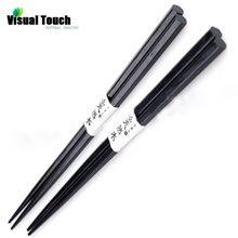 Китайские китайские палочки для еды из цельного черного дерева, деревянная посуда, японские деревянные палочки для еды, 2 пары, здоровые