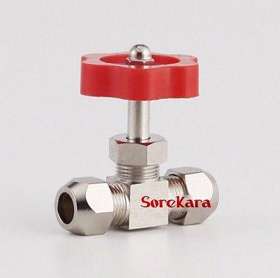 Heimwerker Sanitär Nickel-Überzogene Messing Stecker Nadel Ventil Fit Compression Fitting Für Rohr O/d 12mm Max Druck 0,8 Mpa 100% Garantie