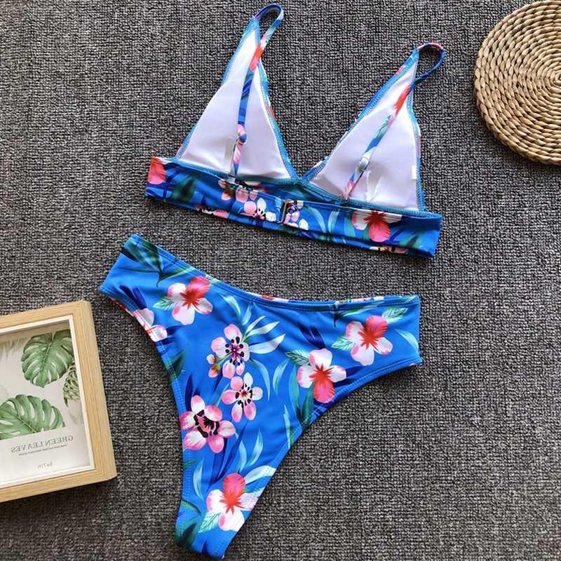 a2864c2ac85 2 Piece Swimsuit Women Swimwear Sexy High Waist Bikini Push Up Bathing  Suits Thong Bikinis 2019 Mujer Swimming Suit for Women