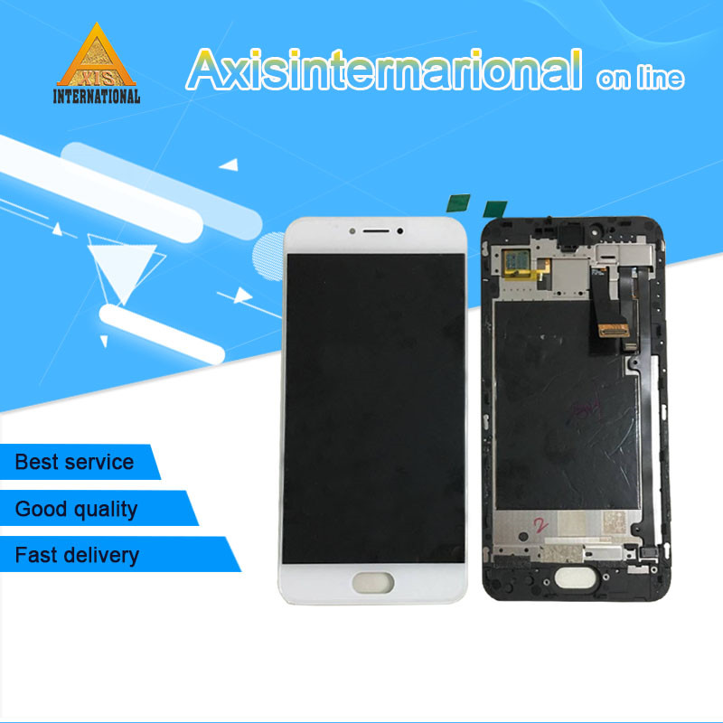 For 5 2 Meizu Pro 6S Axisinternational AMOLED LCD Display Screen Touch Panel Digitizer With Frame
