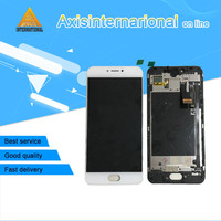 For 5 2 Meizu Pro 6s Axisinternational LCD Display Screen Touch Digitizer With Frame White Black