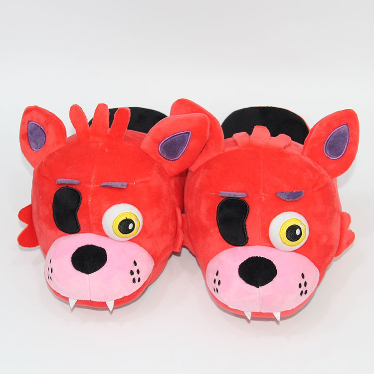 FNAF Five Nights At Freddy's Slippers Freddy Foxy Plush Indoor Slippers For Adults Women Men Winter Home Slippers SA1657
