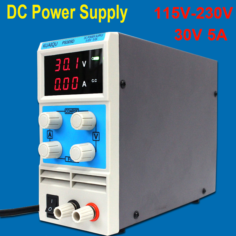 Mini DC alimentation numérique réglable 30 V 5A alimentation à découpage 115 V-230 V pour réparation PC et téléphone portable
