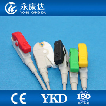 Compatible Mindray ecg cable 5lead IEC Clip 2