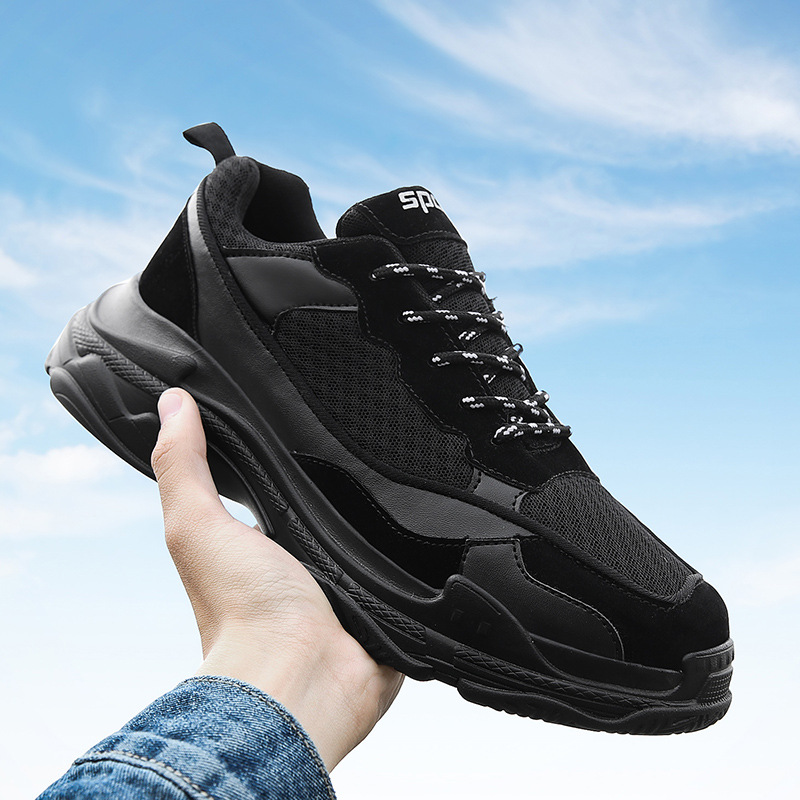 Aliexpress.com  Comprar Ins Hip hop hombres papá Zapatillas Zapatos casual  Air Mesh negro rojo grueso Zapatillas al aire libre Zapatillas Hombre ... f009713505d