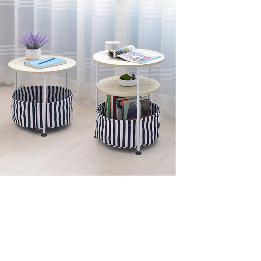 HLC 2 уровня-Деревянный Круглый столик с корзина для хранения