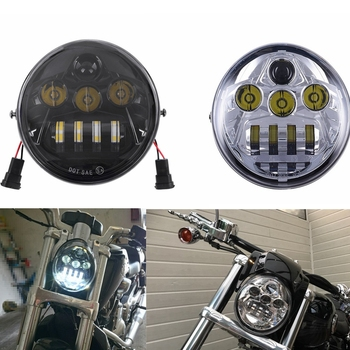 2017 Newest Motorcycle Aluminum BlackChrome Headlamp For Harley Davidson V-Rod VRSCA VRSC LED Headlight Street Rod Driving Lamp harley davidson headlight price