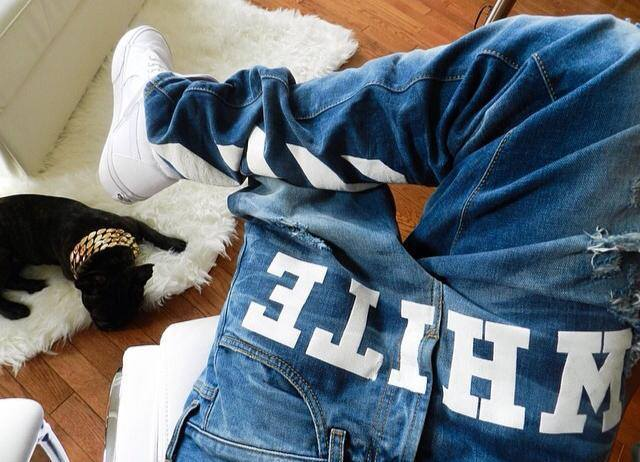 Off white skinny jeans mens