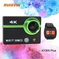 AT300 RUISVIN Plus Câmera de Ação Ultra HD 4 K Capacete Cam 2.0 Polegada WiFi Sports DV Filmadora Full 1080 P Mergulho À Prova D' Água câmera