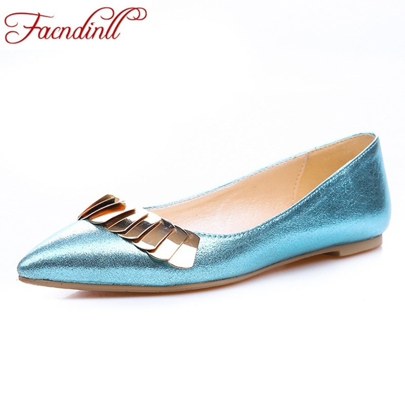 Penny loafer women PU leather pointed toe slip on metal decoration casual dress shoes platform brogue flats spring summer shoes cresfimix zapatos women cute flat shoes lady spring and summer pu leather flats female casual soft comfortable slip on shoes