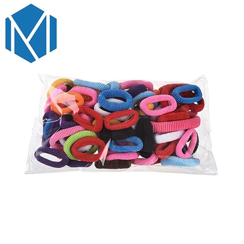 M MISM 80PCS Colorful Hair Elastic Bands Gum Rubber Bezel For Girls Kids Hair Accessories Scrunchy Hair Ties