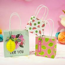 Summer Tiny Paper Bag Mini Stand up Fruits Birthday Wedding Candy Bags Favor Delicate Gift Packing paper Treat gift New
