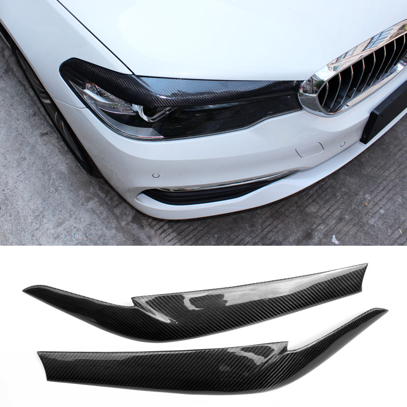 Carbon fiber Eyebrow Fit For BMW 5-Series <font><b>G30</b></font> <font><b>520i</b></font> 528i 530i 540i image