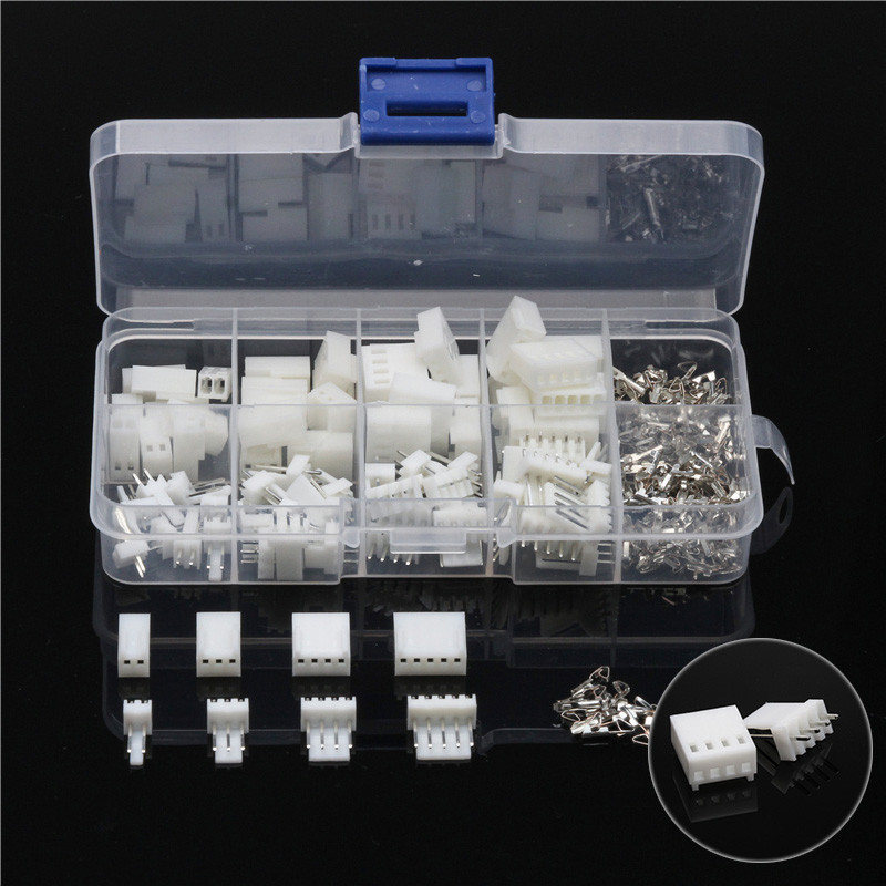 150Pcs JST-XH 2.54mm Wire White Housing Connectors Set 2/3/4/5 Pins Male/Female Assorted Jumper Pin Bare Terminals Kit 1000pcs dupont jumper wire cable housing female pin contor terminal 2 54mm new