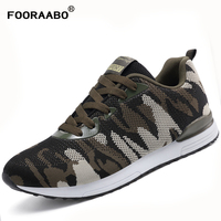 Fooraabo 2017 Spring Autumn Luxury Men Camouflage Casual Shoes Breathable Lovers Casual Shoes Flats Men Chaussure