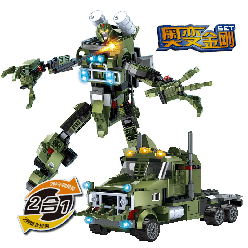 Ausini Model building kits compatible with lego city Truck Robot 2in1 1033 3D blocks Educational toys hobbies for children