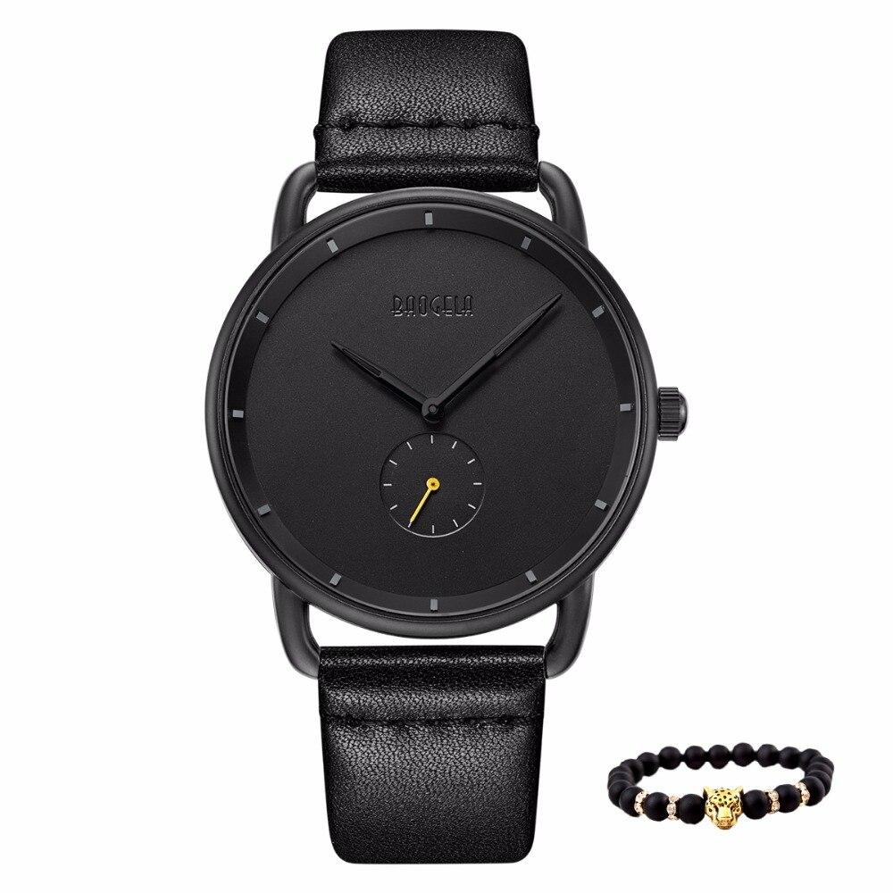 Baogela Neue Luxus Leder Männer Uhr Wasserdicht Militär Männlichen Uhren Sport Quarz armbanduhren männer Business Relogio Masculino