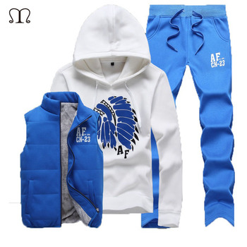 Winter Design custom xxxxl Track suits  Men Track suits man tracksuit jacket vest pants men clothing set suit men Coat MS001