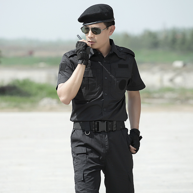 7c716772126b9 Summer short-sleeved military combat uniforms Military tatico enthusiasts suits  men Hunting clothes German wwii uniforms Black