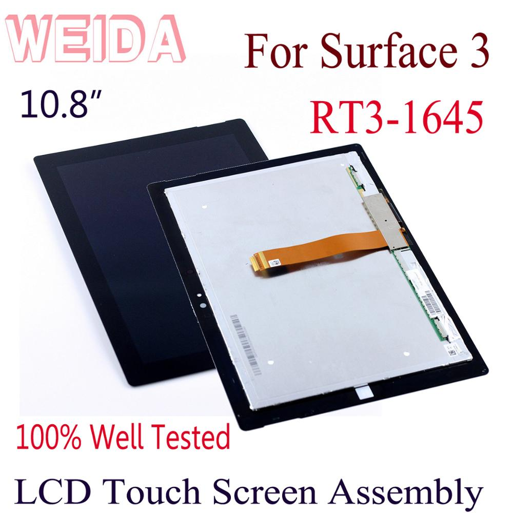 "WEIDA LCD Replacement For Microsoft Surface 3 RT3 RT 1645 10.8"" LCD Display Touch Screen Assembly Surface RT3