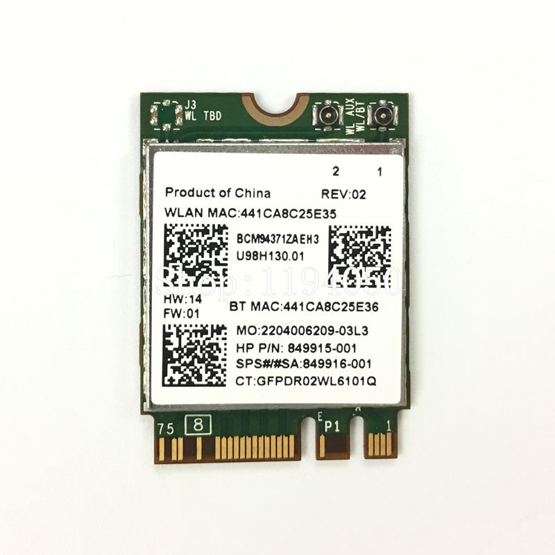 Comprar Broadcom BCM94371ZAE BCM94371 BCM4371 802,11 AC NGFF