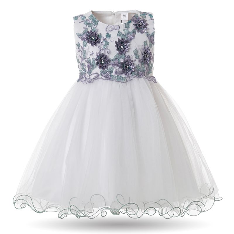 559920eb9f71f US $7.44 50% OFF|Mottelee Toddler Girls Dress Elegant Princess Birthday  Baby Ball Gown 2018 Flower Girl Dresses Embroidery Infant Pageant Frocks-in  ...
