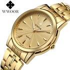 Top Brand Luxury Stainless Steel Men's D Waterproof Watch Men's Quartz Watch Casual Men's Sports Watches WWOOR Men's Watch
